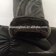 Gants de mode masculins Mitaines de gant en peau d'agneau