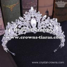 Flower Shaped Wedding Tiaras With Handmade Beads