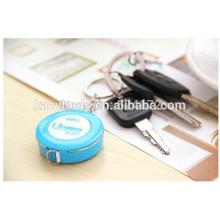 Mini cinta métrica de cuero de 1,5 m de color con una cinta métrica suave 7.5mm Llavero