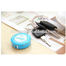 Mini leather tape measure 1.5 m color shell with soft tape measure 7.5mm Keychain