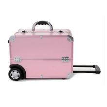 Étui de rangement rose Make up Case Trolley de haute qualité