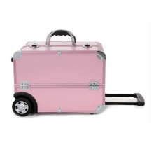 Pink Storage Case Make up Case High Quality Trolley