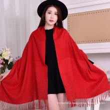 2017 Elegant Hot Selling Women Rhinestones Pashmina Scarf Shawls Winter Polyester Viscose Pashmina Shawl