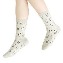 Women′s Cotton Crew Socks with Panda Pattern (WA051)