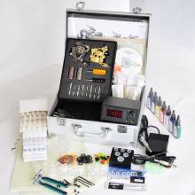 Kit de tatuaje con 2 máquinas / kit de tatuaje con tinta, fuente de alimentación