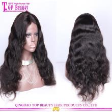 Цзяочжоу оптовые дешевые высокой плотности толщиной 100% Виргинские Remy человеческих волос парик