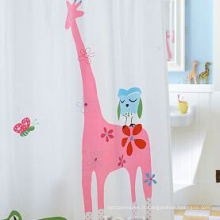 Rideau de douche en polyester motif de dessin animé