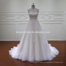 HD024 venda por atacado mão nova design vestido de noiva feito nos EUA
