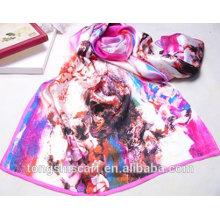 Impressão digital lenço de seda de uma peça meninas vestidos de festa Tongshi fornecedor alibaba china