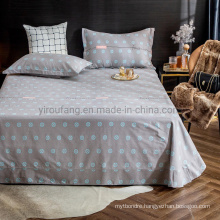Home Decoration Cotton Full Size Bed Sheet Set Good Quality for Home Textile