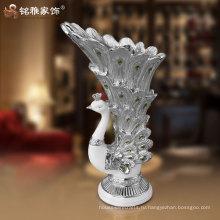 высокий класс смолы павлин ваза для домашнего декора по оптовой цене