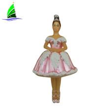 невеста стеклянная розовая принцесса кукла фигурка орнамент