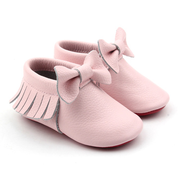 Echtes Leder Baby Girl Mokassins mit Multi-Color