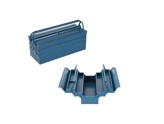 3 layer tool box blue
