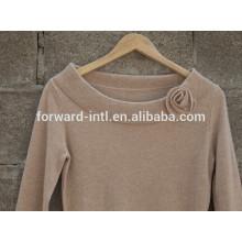 2014 neue Stil runder Kragen stricken Pullover Mädchen mit Blume