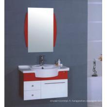 Meuble-lavabo de salle de bains en PVC de 80 cm (B-511)