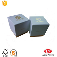 Lid and base box for candle packaging