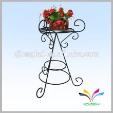 Solo sostenedor, al aire libre, alambre, metal, flor, soporte