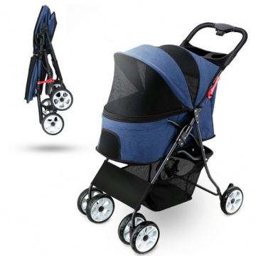 2020 Pet Stroller 4 koła Travel Folding Carrier