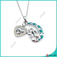 Мода Луна и сердце очарование Кулон ожерелье (Пн)