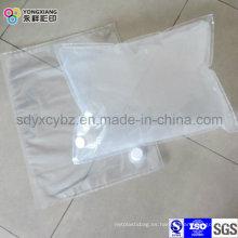 Bolso transparente blanco en caja