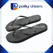 Sandalia de playa de las palmas negras del tirón de las mujeres talla 9