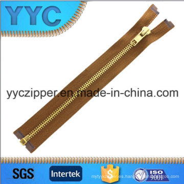 # 5 de oro abierto de latón Zippers para bolsos