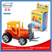 14cm DIY Block Pull zurück Engineering Truck Spielzeug