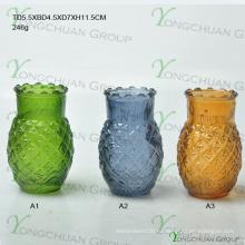 Машинная ваза с цветным стеклом для ананаса