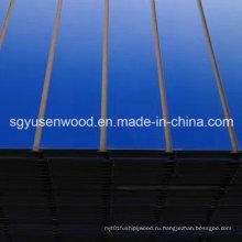Панели slatwall MDF меламина с Алюминиевый бар для отображения