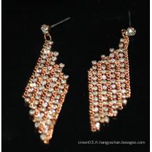 Fashion Hot Sale Charme Long Pendentif Boucles d'oreilles strass