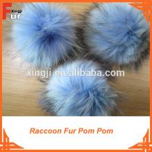Fur Pom Pom, Raccoon Fur, Bobble on Hat