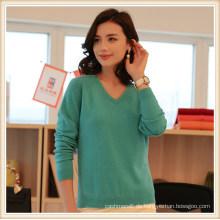 Benutzerdefinierte neueste Designs Winter Plain 100% Kaschmir Mode Frauen Cropped Pullover Pullover