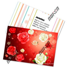 2015 Red Lenticular Name Cards with Flowers