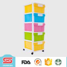 5 layers storage drawer plastic divider cabinet furniture for sale