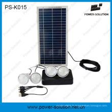 Kits d'éclairage d'énergie solaire de 8W DC avec le chargeur mobile
