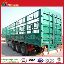 Stake/Fence Semi Utility Trailer for Cargo Transport
