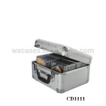 caja de CD de alta calidad CD 40 discos (10mm) de aluminio por mayor