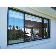 Бесшовные водонепроницаемые двойные стеклянные раздвижные алюминиевые двери и окна