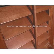 89mm louver interior bi-fold plantation shutters interior basswood on windows