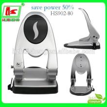 Hochleistungs-Zwei-Loch-Powersave Metall-Papier-Punch HS902-80