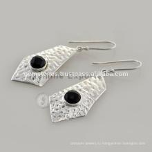 Дизайнерский Черный Оникс Серебро Драгоценный Камень Индийские Украшения На Рождество По Оптовой Цене