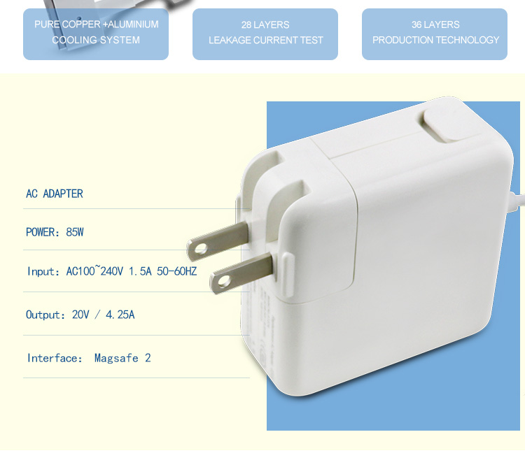 20v 4.25a wall power adapter for apple computer