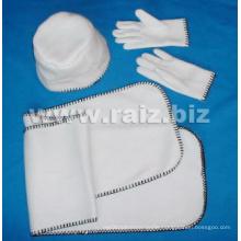 Plain 3 Set for Winter (hat + gloves + scarf)