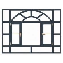 Venta caliente de ventanas y puertas de aluminio Wanjia en el mercado de Dubai