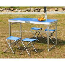 Tabela de dobramento ao ar livre mesa de acampamento portátil Mesa de dobramento coreana para ao ar livre