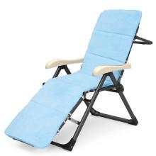 Cadeira de dobradura azul do sofá-cama do colchão do algodão dos PP da camurça