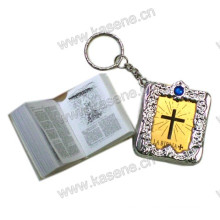Factory Direct Sale Rosary Book Min Bible Religious Keychain