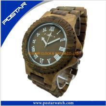 Relojes de banda de reloj de madera de alta calidad de los relojes con el logotipo de encargo