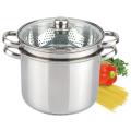 Stainless Steel Pasta Cooker Steamer Pot Set